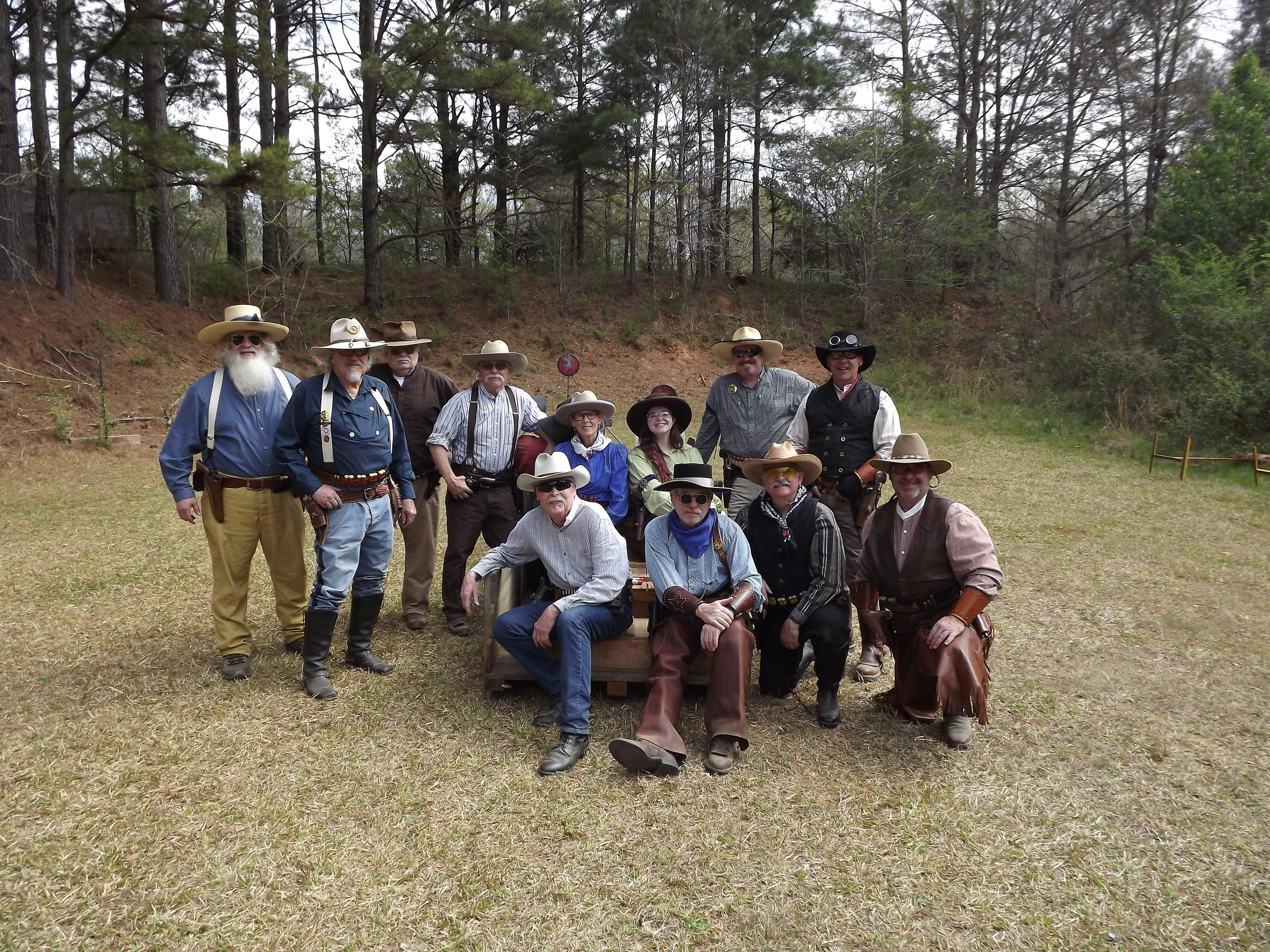Front: Ozark Azz, Blue Speirman, Marshal Ruger, Schofield Twin. Back: Steamboat, Major Bill, Dances with Pitbulls, Shorty Butte, Maggie Darlin, Raindrop Renegade, The Rainmaker, Kantankerous Tee