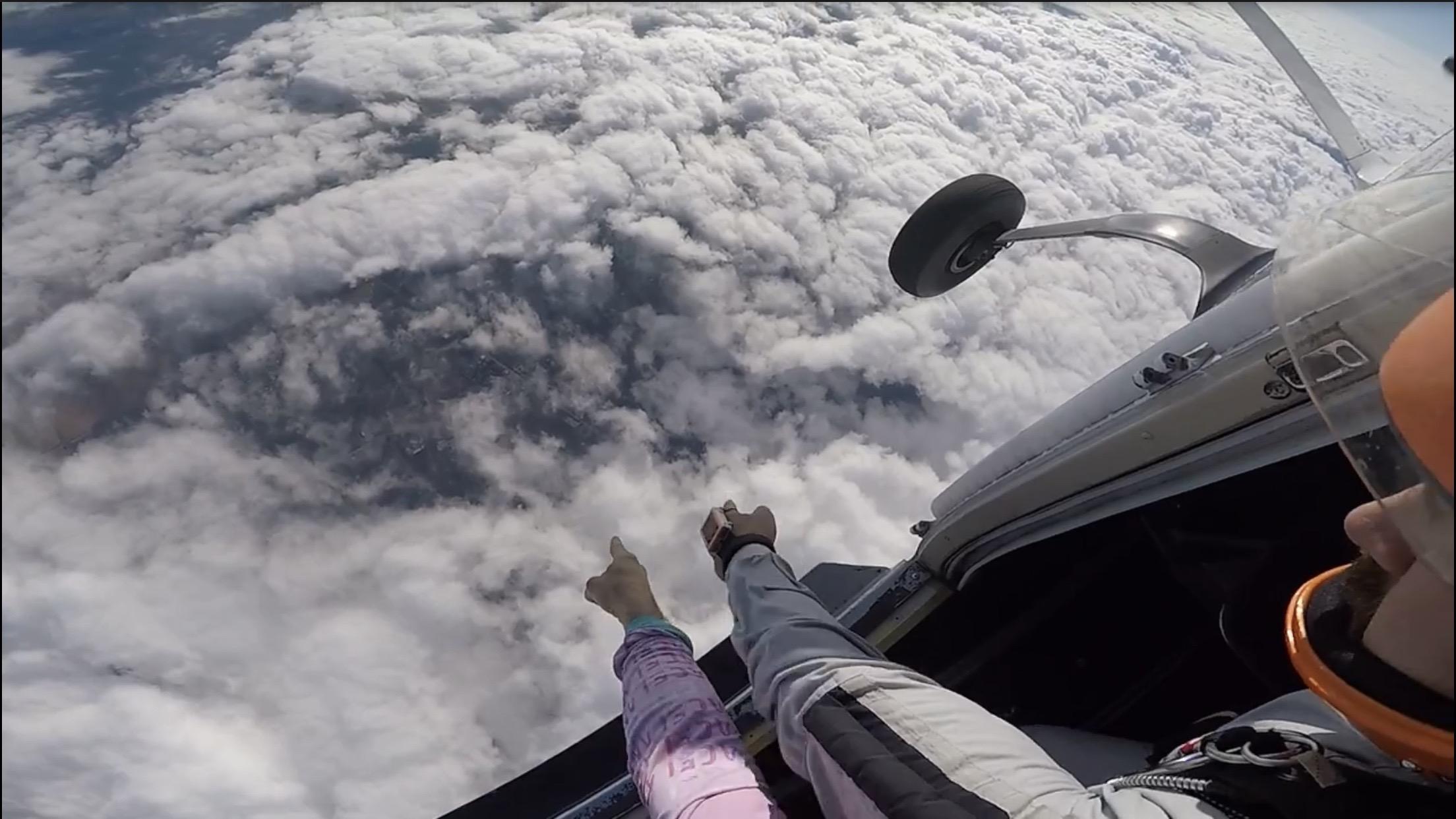 Luke finding the drop zone from 14,500 feet.