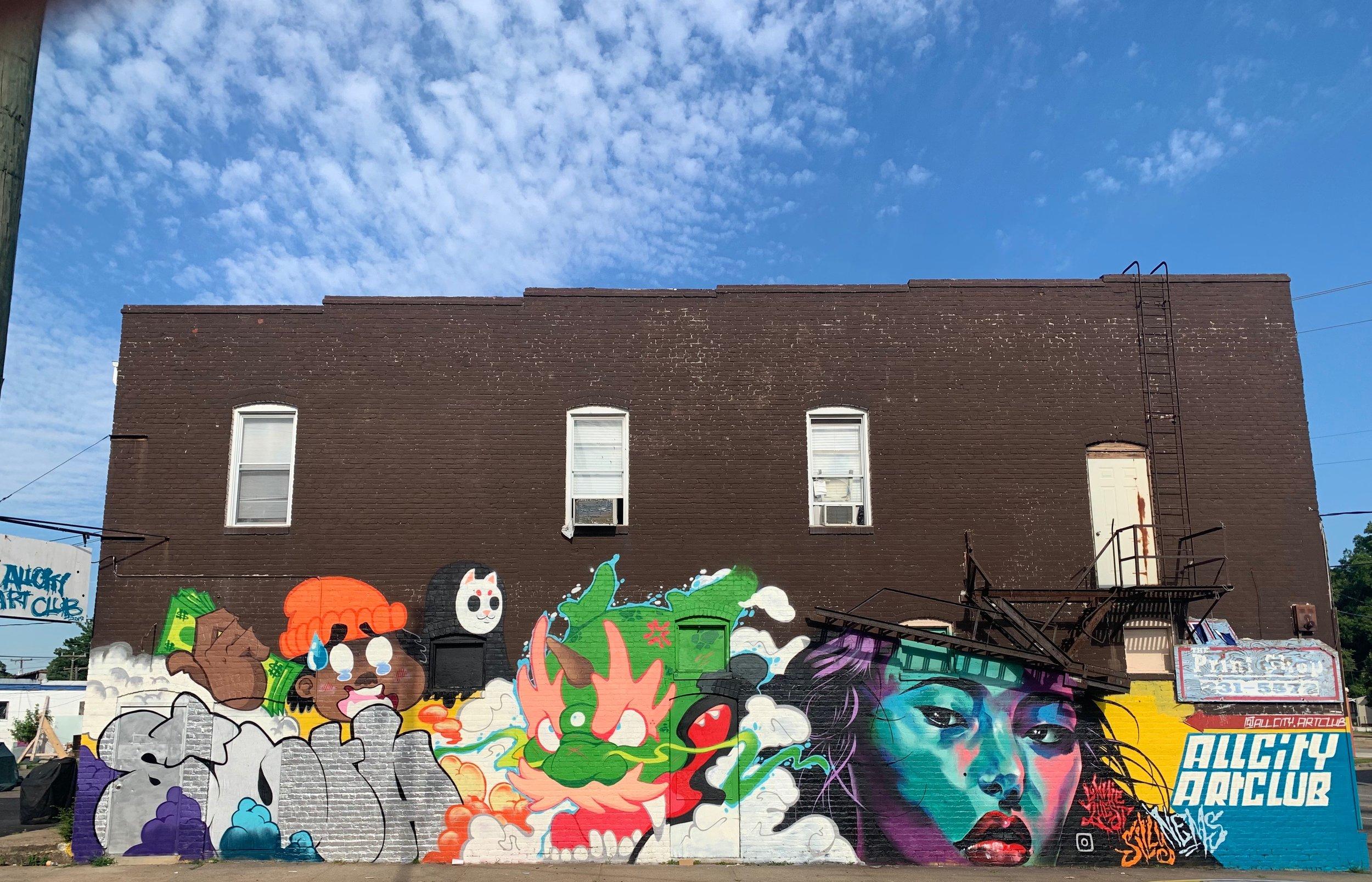 Mural outside 335 Broad Rock Rd | Black Belt Jones x  Lonnie Garner