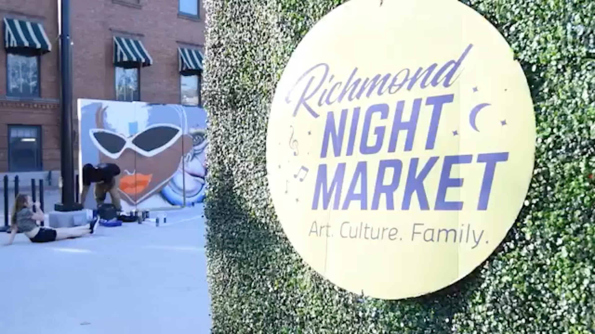 Screenshot from Richmond Night Market video by @bso.creative