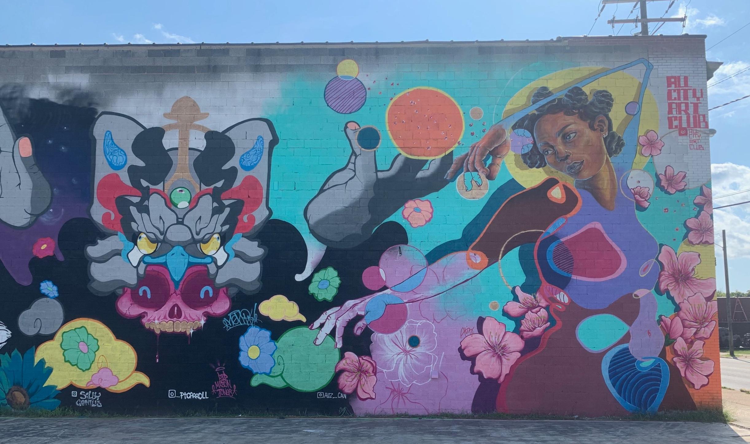 All City Art Club Mural at Blue Dot Studios Richmond, Virginia - BlackBelt Jones x Austin Auz Miles
