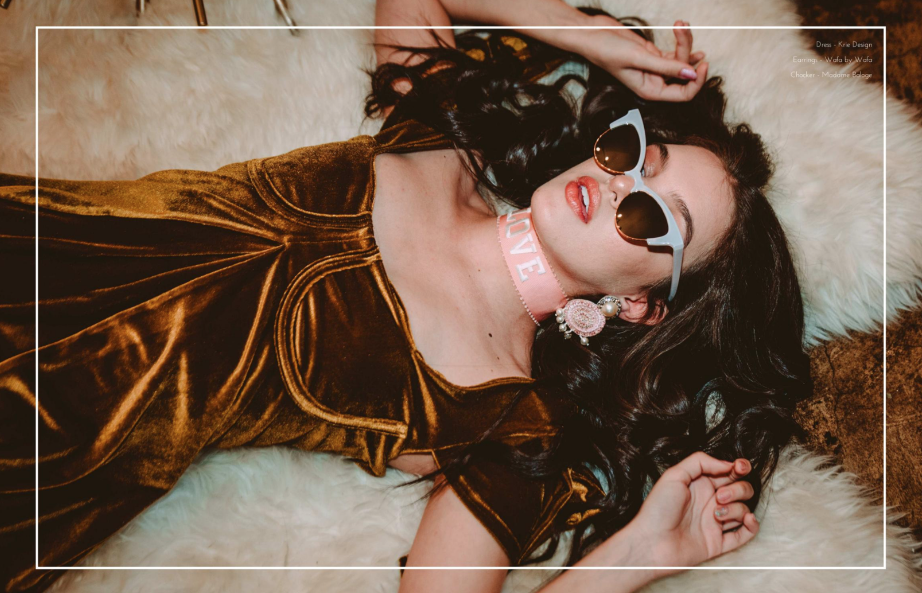 "Lilimar Hernandez / Saturn Magazine - ""Love"" Choker Necklace"