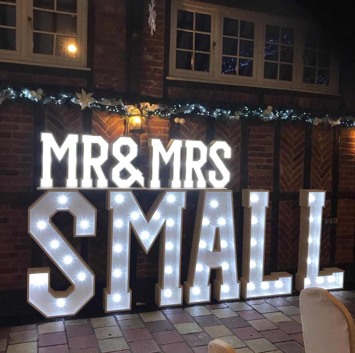 Mr & Mrs… - Bespoke & PersonalPersonalise your special day with the name of the newlyweds lighting up the dance floor - any name to suit, we have lots of letters!
