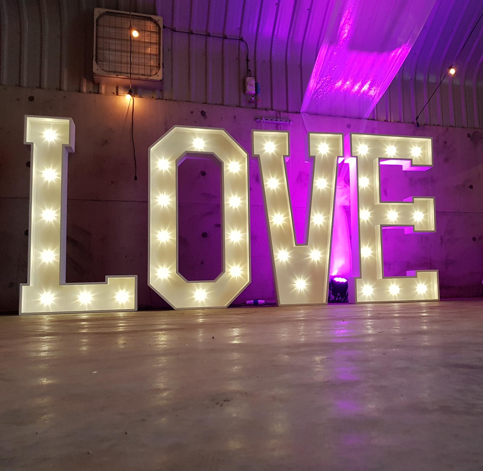 LOVE - Weddings & AnniversariesAdd that extra glamour to your wedding and light up your venue with our unique 5ft LED premium letters.