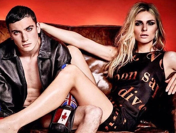 ANDREJA PEJIC WEARS MOSCHINO ARCHIVE AT HOL    for Attitude Magazine UK    photography Damon Baker