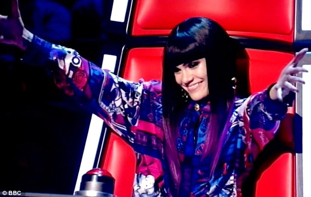 JESSIE J WEARS GIANNI VERSACE ARCHIVE HOL    for THE VOICE UK