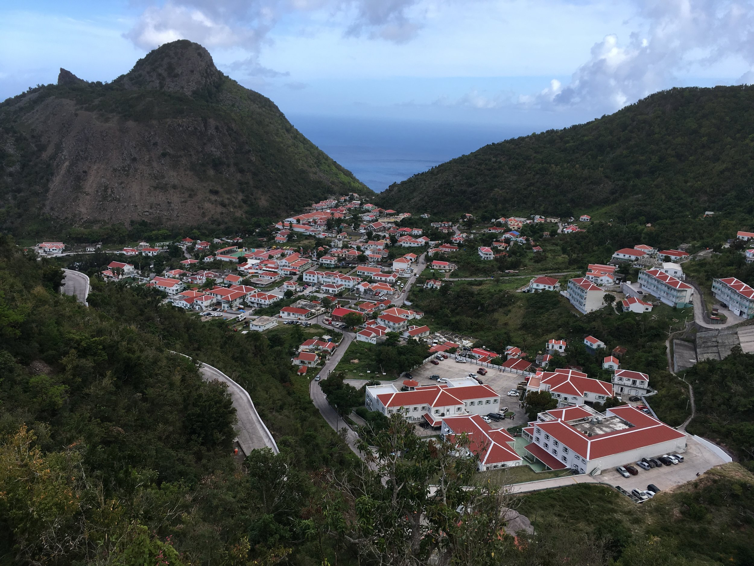 The village of The Bottom, the capital of the Dutch island of Saba.