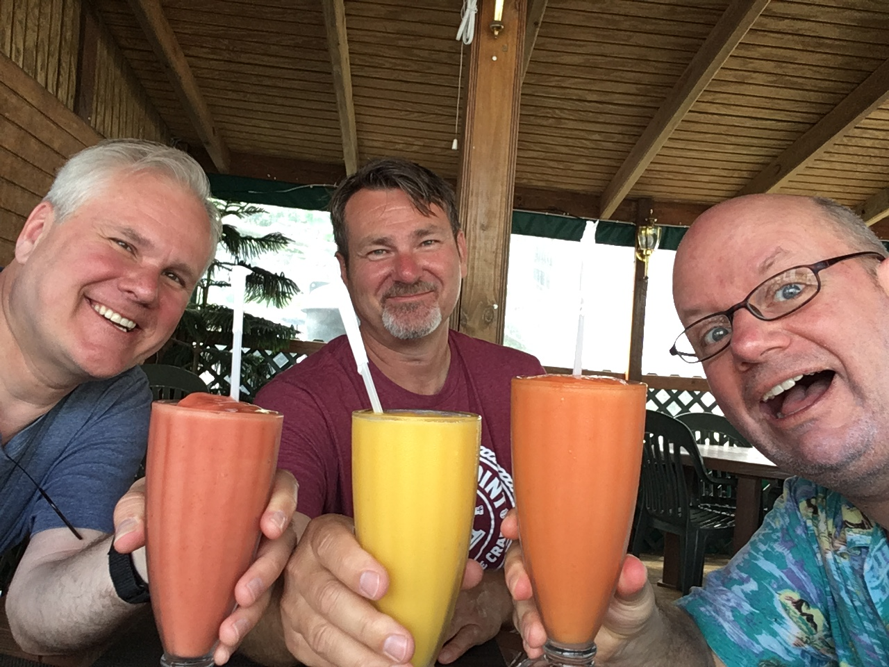 The Cleveland brothers join me for Saba Snack smoothies. Something three characters in my book do...