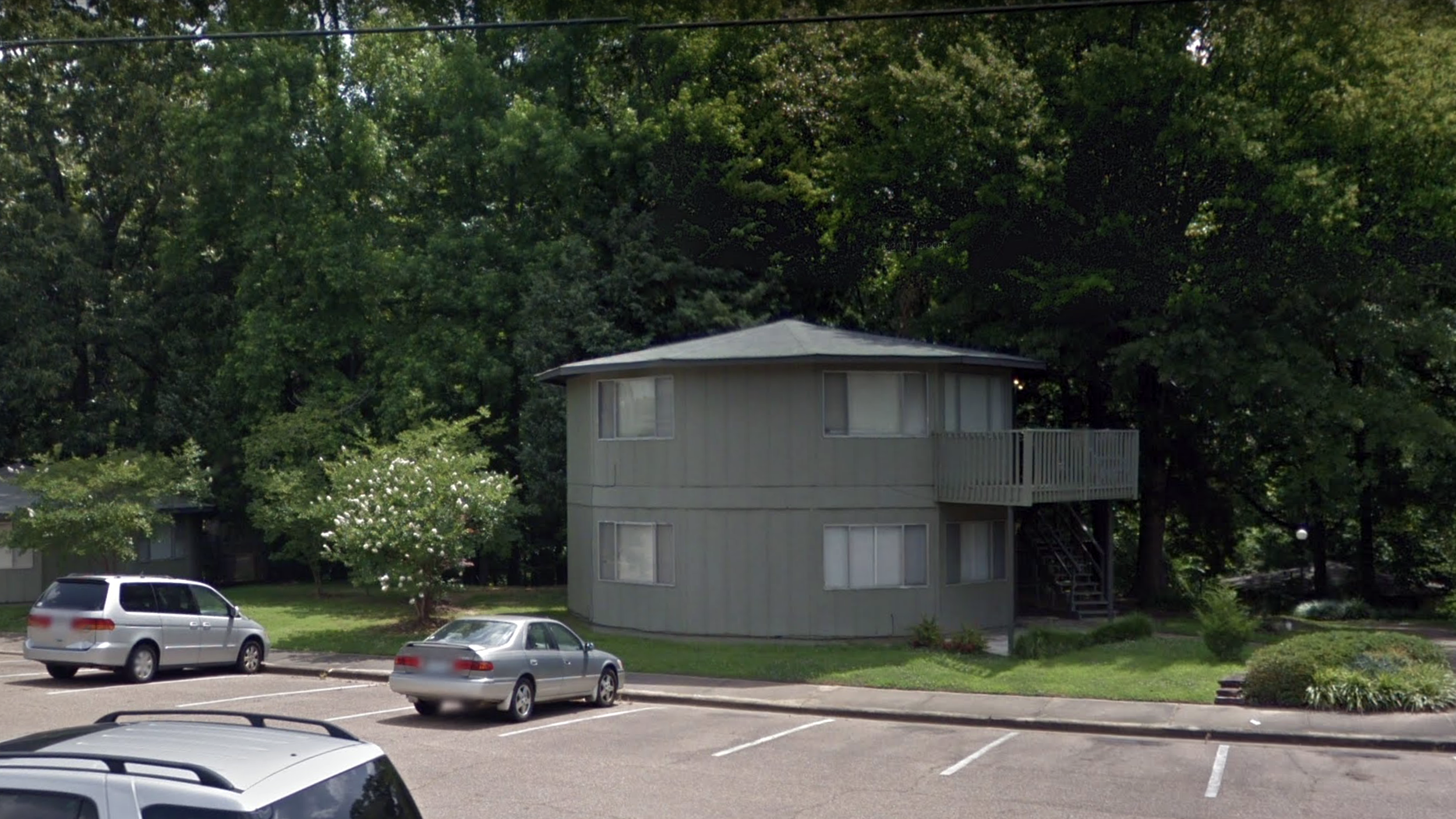 """1981-1982  554 Hathorn Road, Oxford, Mississippi. Also known as the """"Roundhouse Apartments"""" I shared this penthouse with my brother, CO, for a year."""