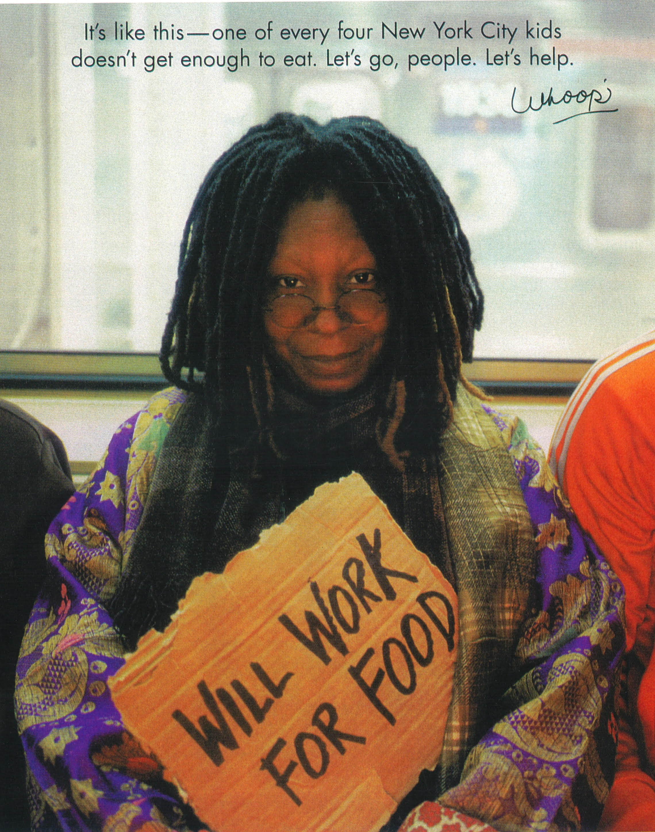 Whoopi Goldberg for City Harvest - During one of Whoopi Goldberg's visits to Dö Kham she spotted this antique purple silk brocade robe which was later featured in the City Harvest campaign to end hunger in communities throughout New York City