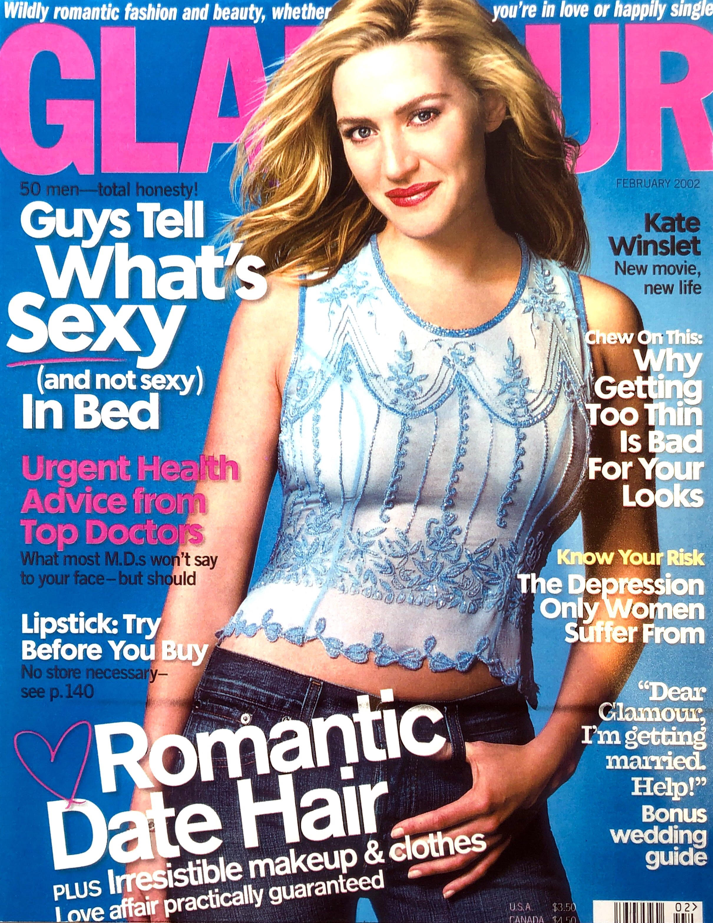 Glamour Magazine - Dö Kham hand embroidered and beaded silk top featured on the cover of Glamour Magazine