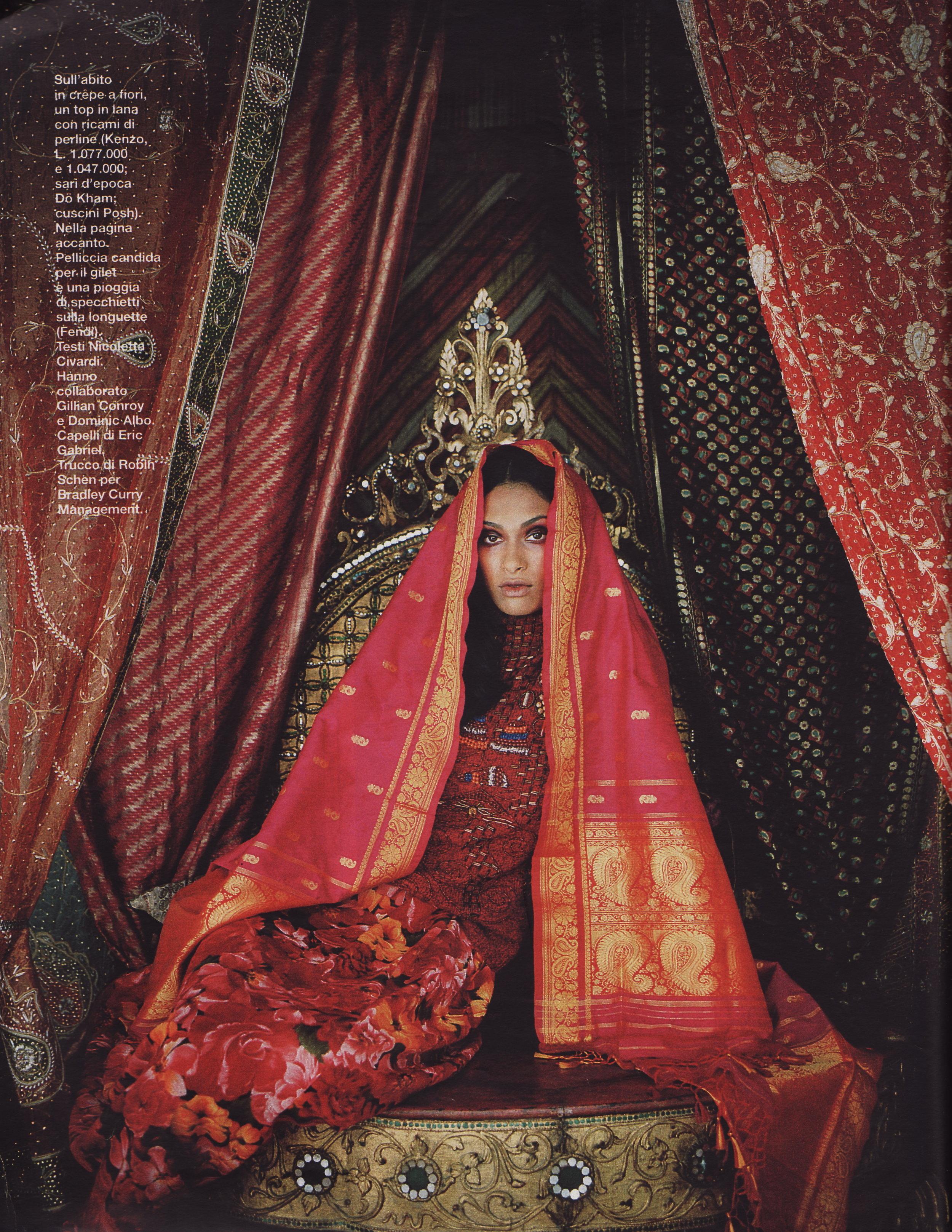 iO Donna Magazine - Dö Kham silk shawl featured in iO Donna Magazine