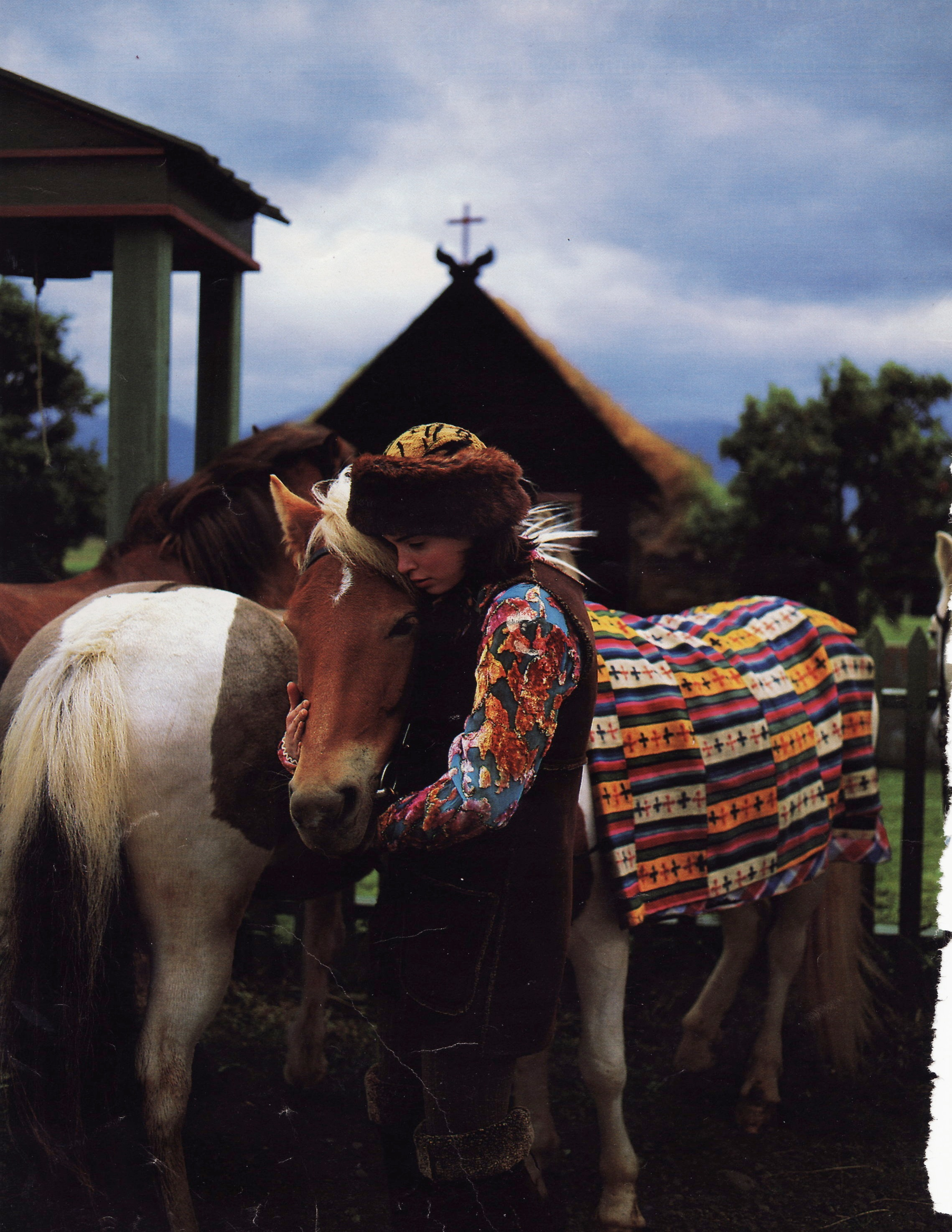 Mademoiselle - Dö Kham classic Tibetan fox fur hat and antique Tibetan blanket featured in Mademoiselle Magazine