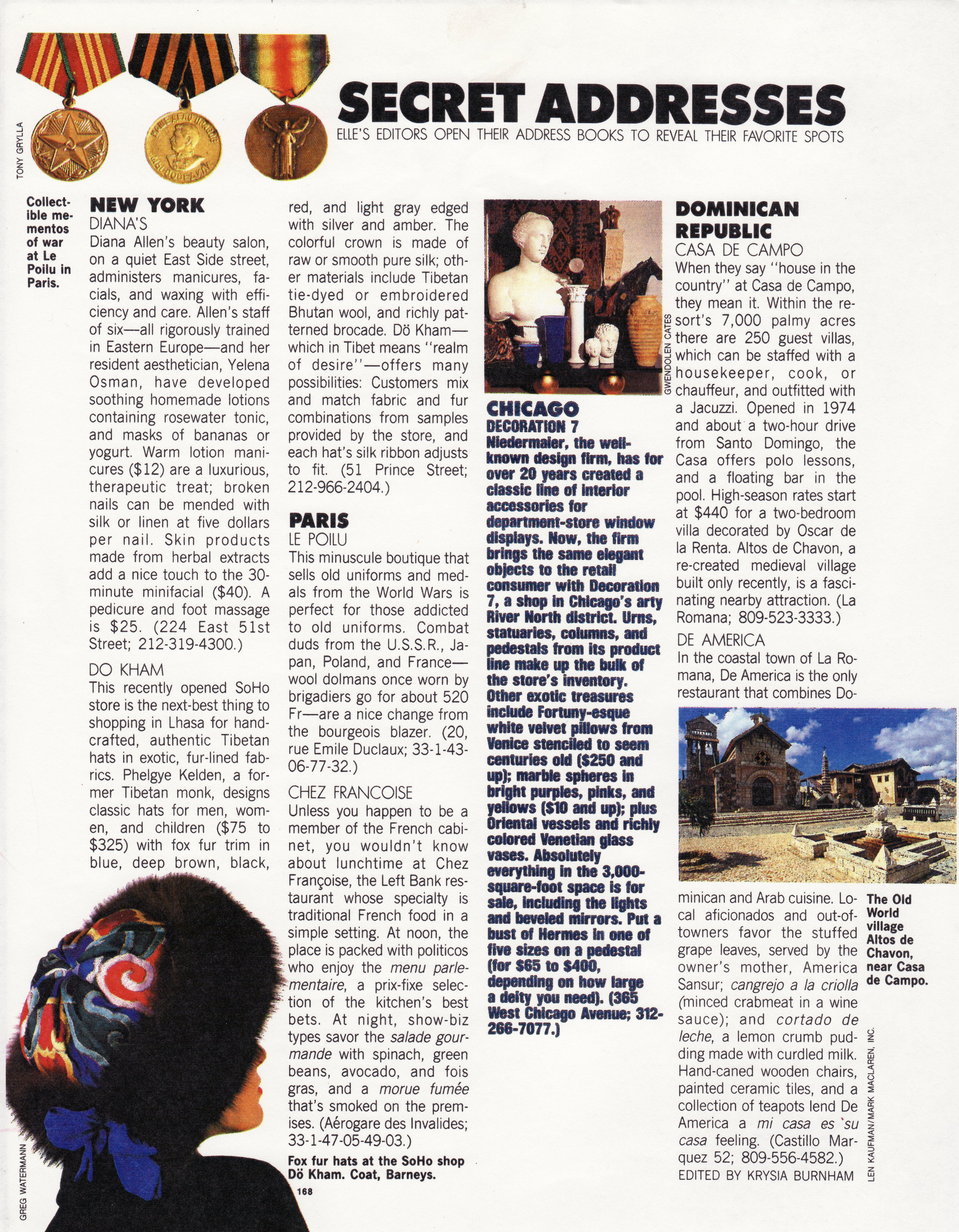 Elle Magazine - Featured as a Secret Address in Elle Magazine