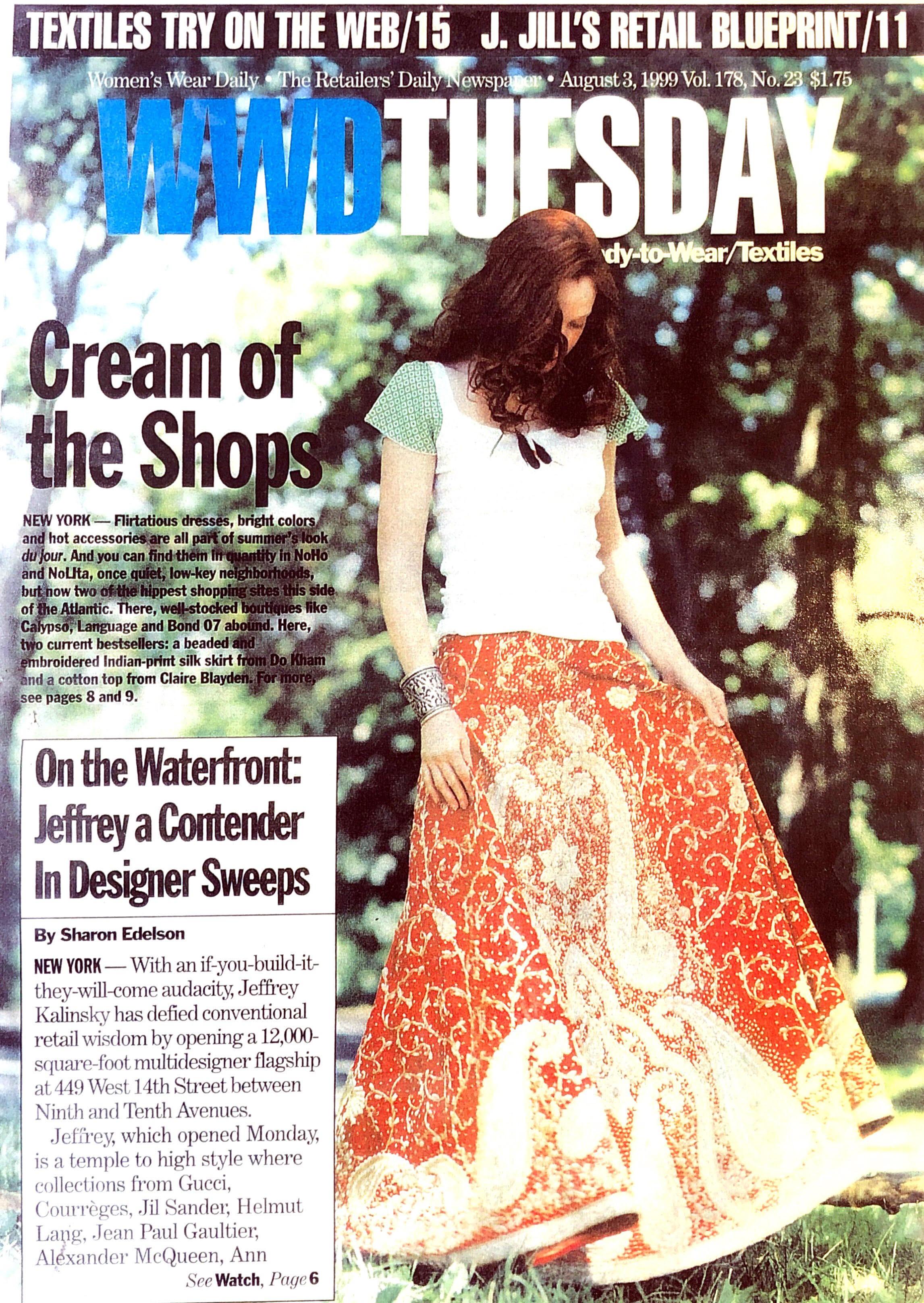 WWD - Dö Kham skirt and bracelet as featured in WWD