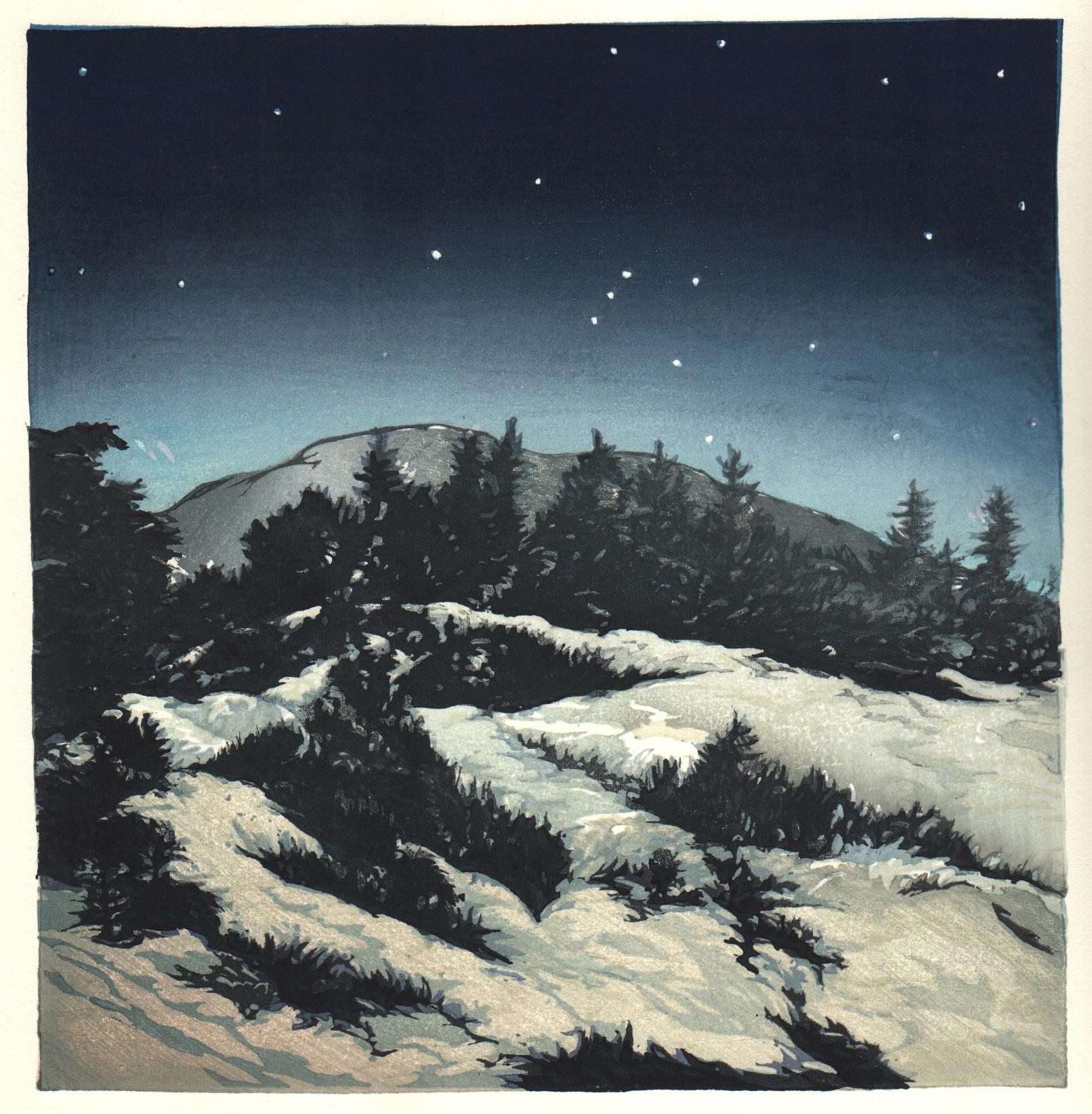 Orion over Mt. Monadnock
