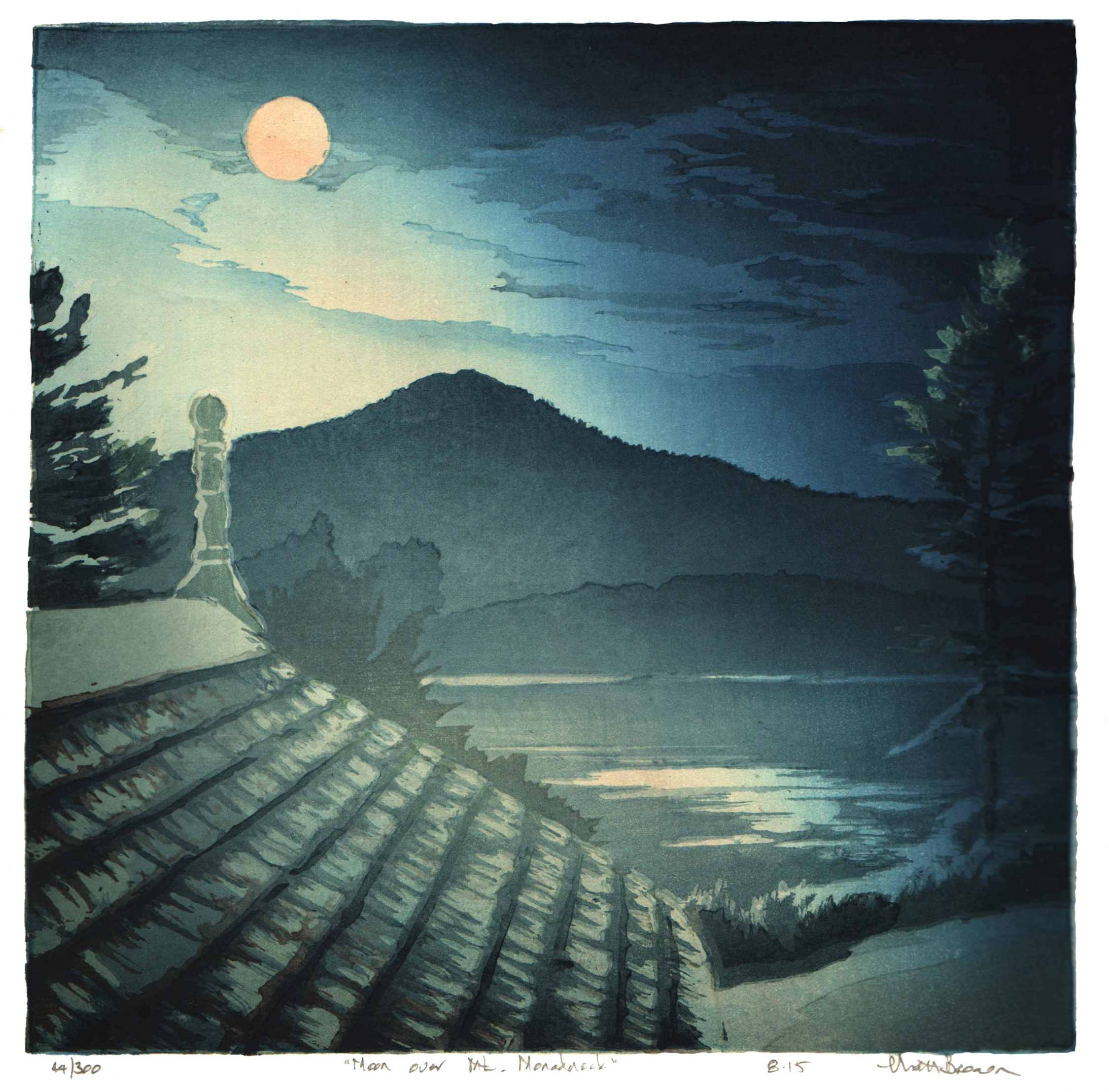 Moon Over Mt. Monadnock