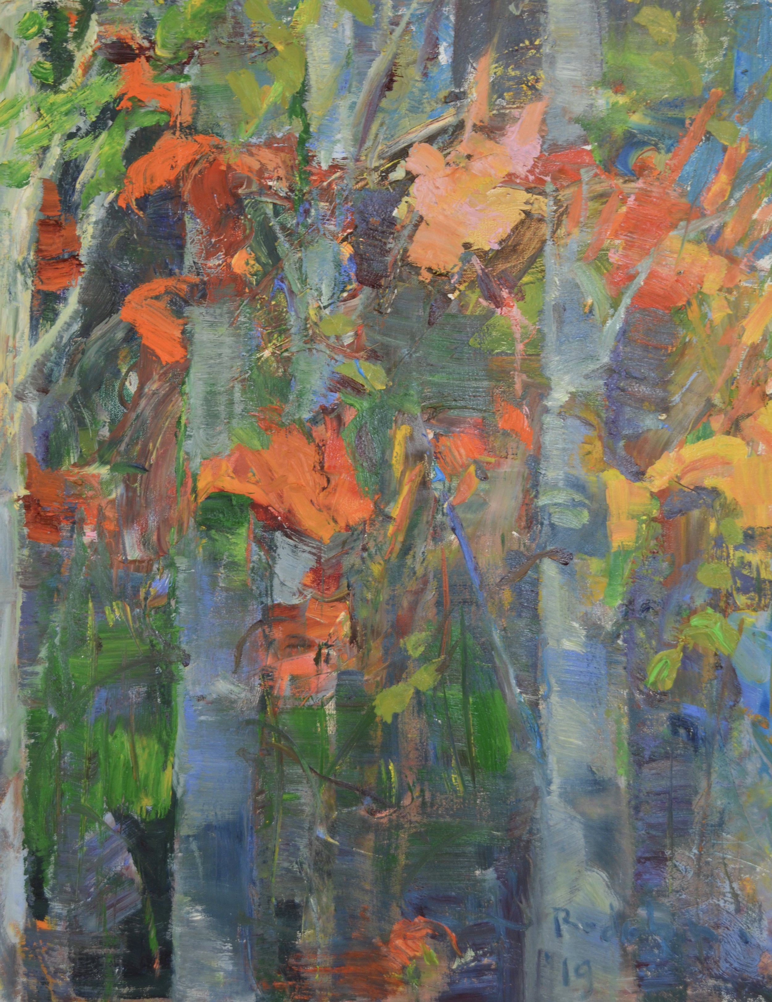 Tree/Lillies