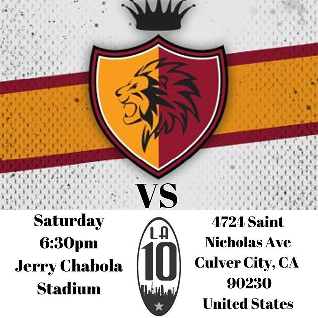 Heavyweight bout this Saturday vs @la_10_fc this will be as always a high quality game against a high quality opponent our lions will be in full force and Saturday can't come soon enough @upslsoccer the Jungle is coming 🦁✊🏻 Social Media Hashtags #LionsideFC #UPSL #UPSLSoccer #UPSLDivision1 #SoCalSoccer #NPSL #NPSLSoccer #LamarHuntUsOpenCup #LamarHunt #SouthBaySoccer #RedondoBeach #ElSegundo #Soccer #MLS #LAFC #LAGalaxy #SoccerClub #USMNT #grassrootssoccer #Nike #Adidas #Umbro #mycujoo #culvercity #culvercityhighschool #themarathoncontinues #galatasaray #lions
