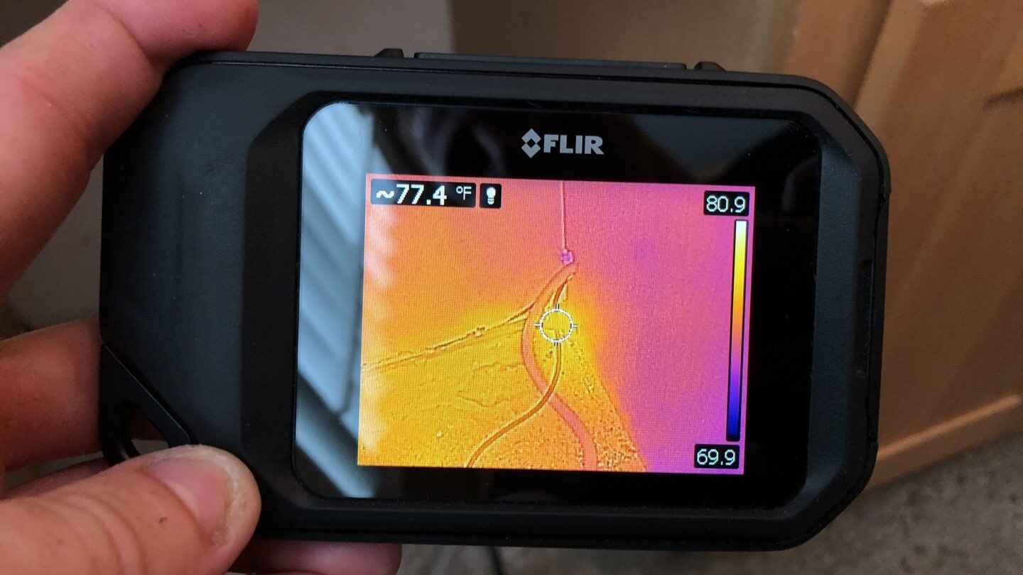 infrared camera showing thermal differences