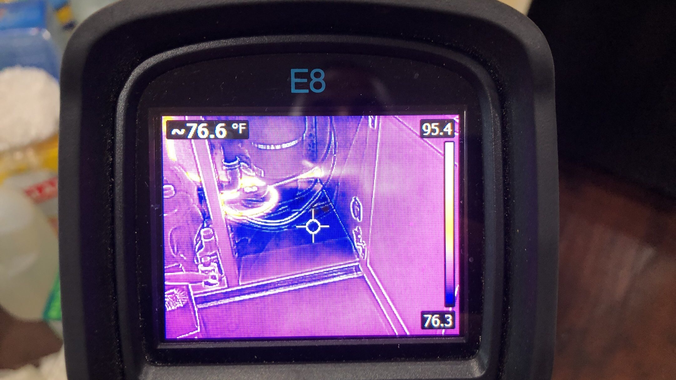 Thermal camera to assist in finding water damage