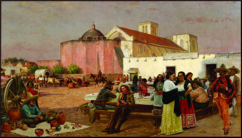 Market Plaza by Robert Jenkins Onderdonk, 1880.