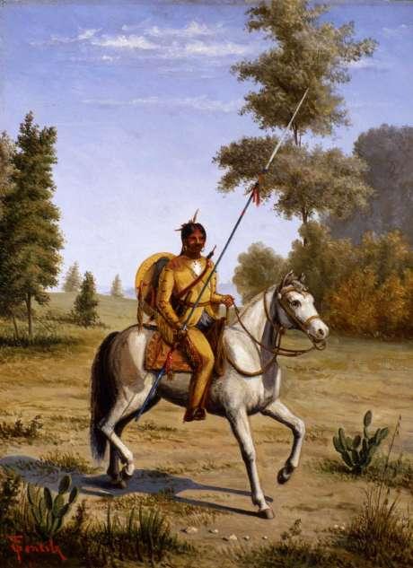 Comanche Chief by Theodore Gentilz, ca. 1890s