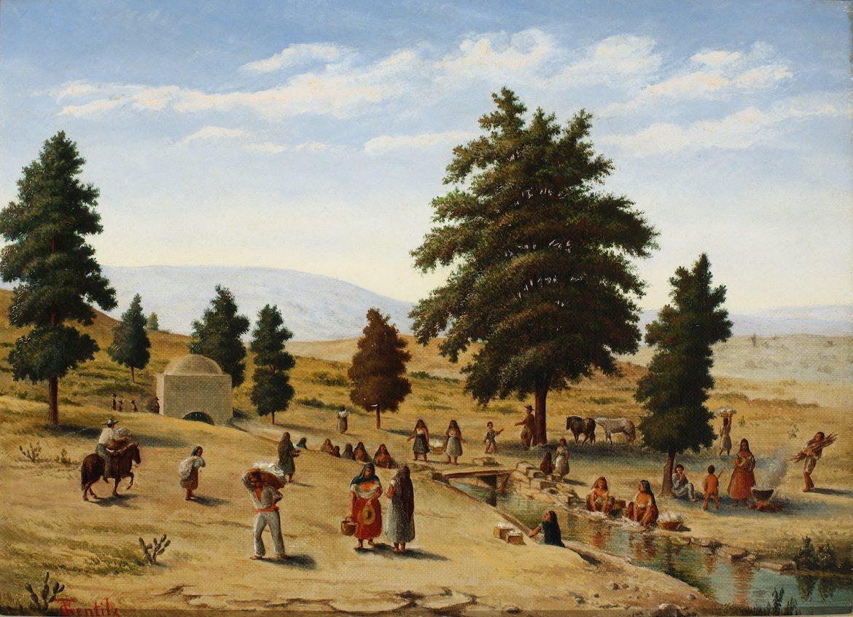 """Acequias"" by Theodore Gentilz"