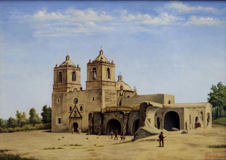 Mission Concepción by Theodore Gentilz