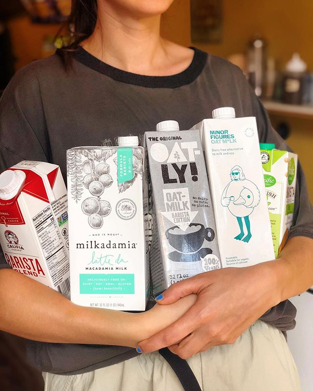 Happy world plant milk day! We only carry plant milk! Our default milk is oat! Check out our stories to see the @minorfigures promotion that is kicking off today! 🌎🌱🥛❤️