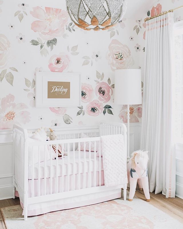 "Happy Friday!! With spring in full bloom how could we not drool over this ""Jolie Mural"" wallpaper from @anewalldecor !? This nursery is absolutely darling. 📸@monikahibbs . . . . #neutralhome #interiors123 #dailydecordetail #myserie7 #thenewbohemians #mydecorvibe #howyouhome #apartmenttherapy #oneroomchallenge #kismetcheckoutmyhouse #luxeathome #interiordesign #interiordecor #home #homestyle #homedesign #interiors #interiorstyling #homeinspo #homesohard #mycovetedhome #peepmyhome #pocketofmyhome #showmeyourstyled #howwedwell #makehomeyours #lovetohome #myhomevibe #mydomaine #currenthomeview"