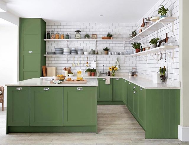 Green with envy for this beautiful kitchen! Are you a fan of completely open shelving?? How about green cabinets!? . . . . #neutralhome #interiors123 #dailydecordetail #myserie7 #thenewbohemians #mydecorvibe #howyouhome #apartmenttherapy #oneroomchallenge #kismetcheckoutmyhouse #luxeathome #interiordesign #interiordecor #home #homestyle #homedesign #interiors #interiorstyling #homeinspo #homesohard #mycovetedhome #peepmyhome #pocketofmyhome #showmeyourstyled #howwedwell #makehomeyours #lovetohome #myhomevibe #mydomaine #currenthomeview 📸@Sanderson1860