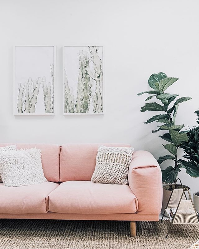 Not only does the sofa look so comfy, like a cloud but we are loving the bold pink color and how it works so well in this space! Would you dare go for a bold sofa? 📸 @sarahshermansamuel . . . . #neutralhome #interiors123 #dailydecordetail #myserie7 #thenewbohemians #mydecorvibe #howyouhome #apartmenttherapy #oneroomchallenge #kismetcheckoutmyhouse #luxeathome #interiordesign #interiordecor #home #homestyle #homedesign #interiors #interiorstyling #homeinspo #homesohard #mycovetedhome #peepmyhome #pocketofmyhome #showmeyourstyled #howwedwell #makehomeyours #lovetohome #myhomevibe #mydomaine #currenthomeview
