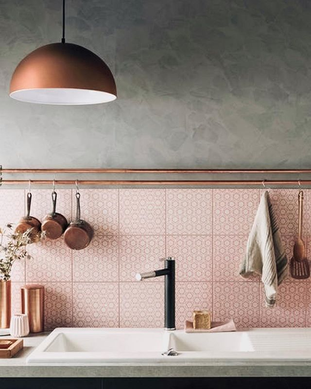 Proving that pink can I fact be masculine. Loving the blush with concrete and copper to give this kitchen a masculine feel! . . . . #neutralhome #interiors123 #dailydecordetail #myserie7 #thenewbohemians #mydecorvibe #howyouhome #apartmenttherapy #oneroomchallenge #kismetcheckoutmyhouse #luxeathome #interiordesign #interiordecor #home #homestyle #homedesign #interiors #interiorstyling #homeinspo #homesohard #mycovetedhome #peepmyhome #pocketofmyhome #showmeyourstyled #howwedwell #makehomeyours #lovetohome #myhomevibe #mydomaine #currenthomeview