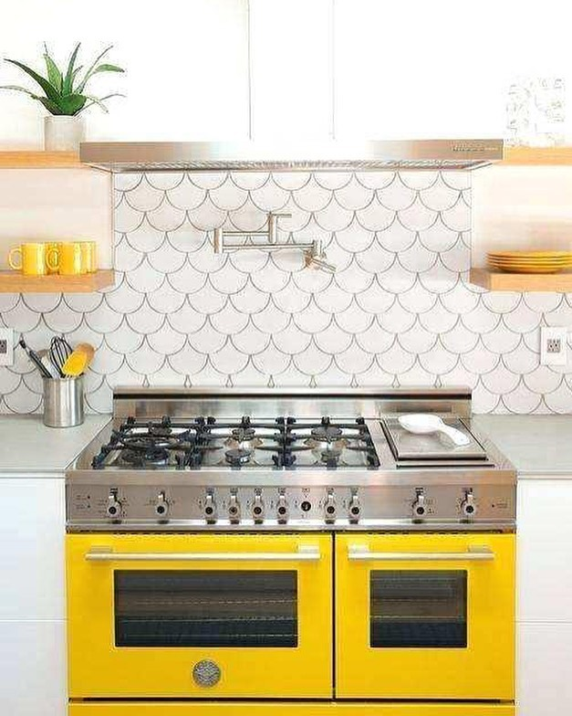 Doesn't this Yellow range make you want to stay in the kitchen and happily bake cookies all day long!? We are obsessed!! . . . . #neutralhome #interiors123 #dailydecordetail #myserie7 #thenewbohemians #mydecorvibe #howyouhome #apartmenttherapy #oneroomchallenge #kismetcheckoutmyhouse #luxeathome #interiordesign #interiordecor #home #homestyle #homedesign #interiors #interiorstyling #homeinspo #homesohard #mycovetedhome #peepmyhome #pocketofmyhome #showmeyourstyled #howwedwell #makehomeyours #lovetohome #myhomevibe #mydomaine #currenthomeview