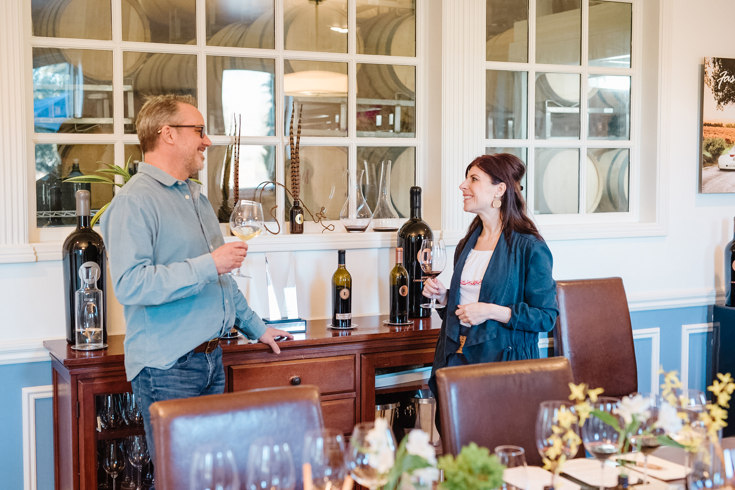 (Photo by Photographer Lenore Erikson) Nicole with Host/Winery Relations Manager David Gibson