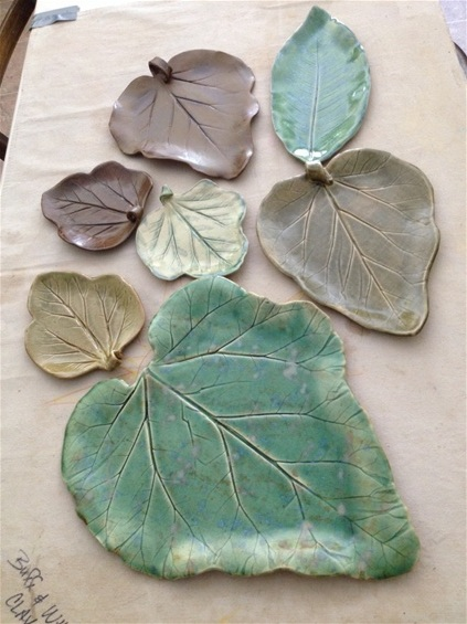 Debbie Angell - Well known for her leaf pressed platters, Debbie is one of our original potters. Using leaves from all over the state, she truly captures the true essence of plants in her botanical imprints. Each leaf is an original that varies in size and color. Prior to Nutmeg Potters, Debbie sprayed and hand painted intricate designs on wooden chairs at Hitchcock. This experience has transferred to her work in pottery and is displayed in some of her leaves and the images she hand paints onto platters. Debbie's patience and care shows in each piece she creates.