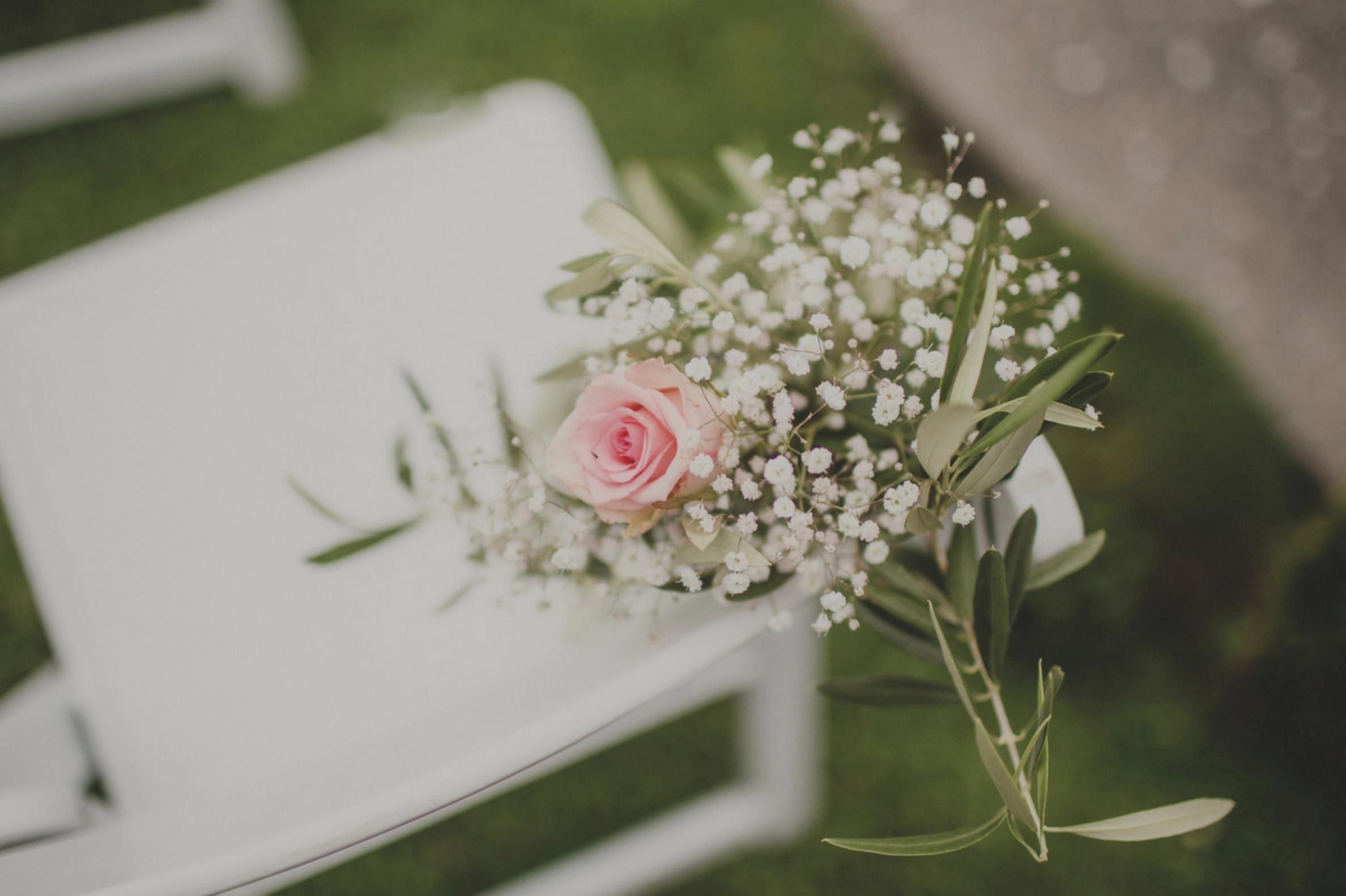 Wedding floral details