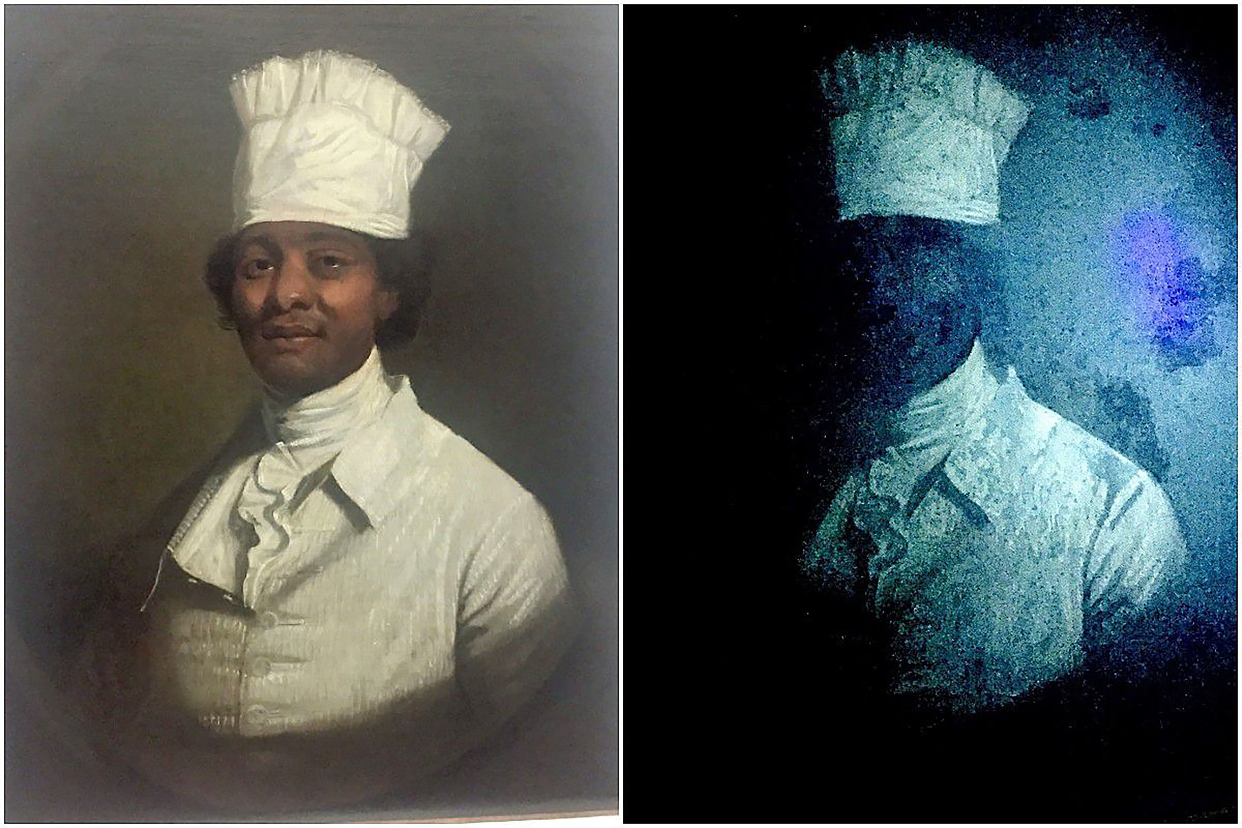Craig LaBan, Philadelphia Inquirer  This painting was long believed to be a portrait of chef Hercules, supposedly painted by Gilbert Stuart. Those attributions have recently been dismissed by experts, and the both subject and painter are now unknown.
