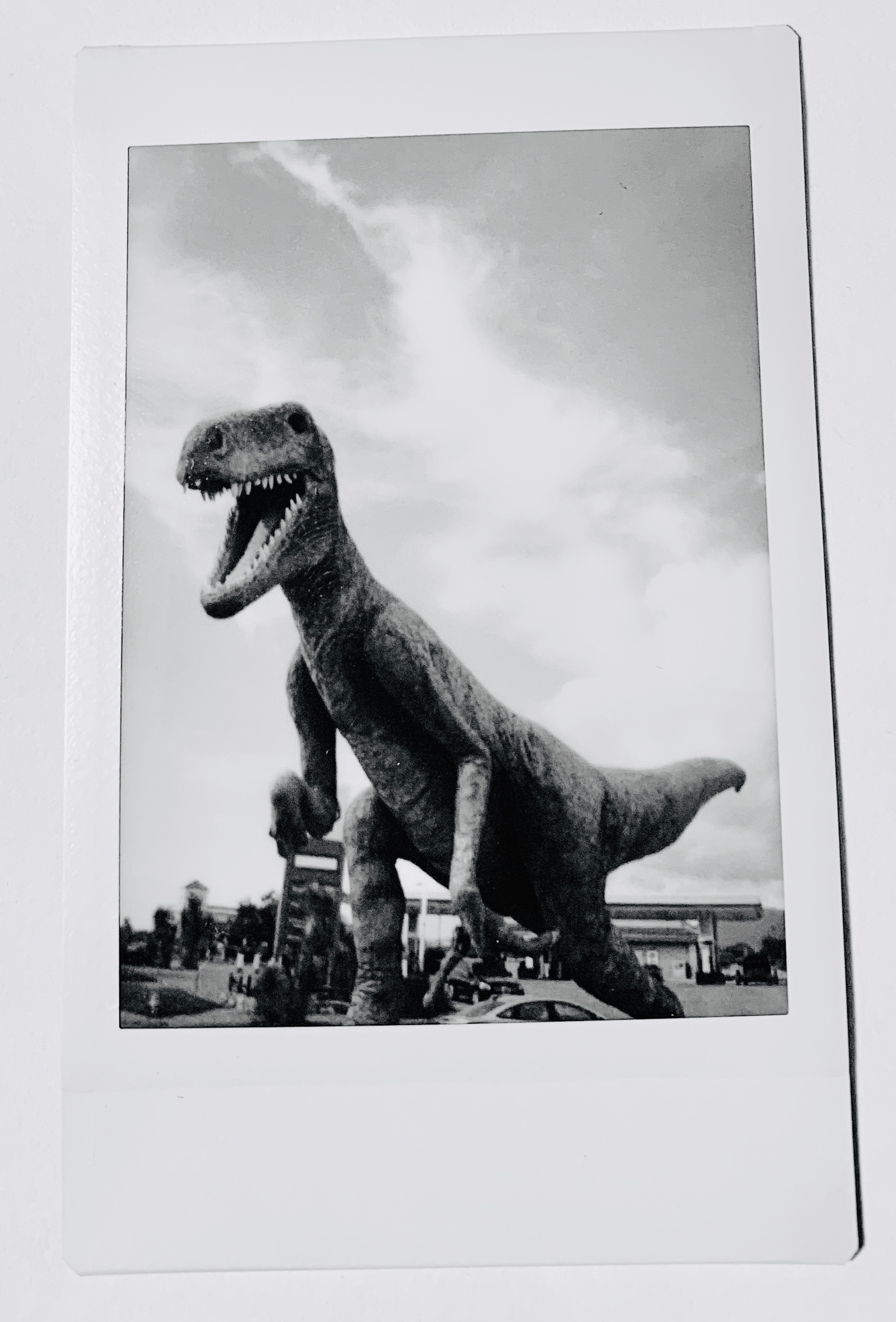Dinosaur somewhere in New Mexico. Not sure where anymore. It was on a drive back from Tucson, AZ.