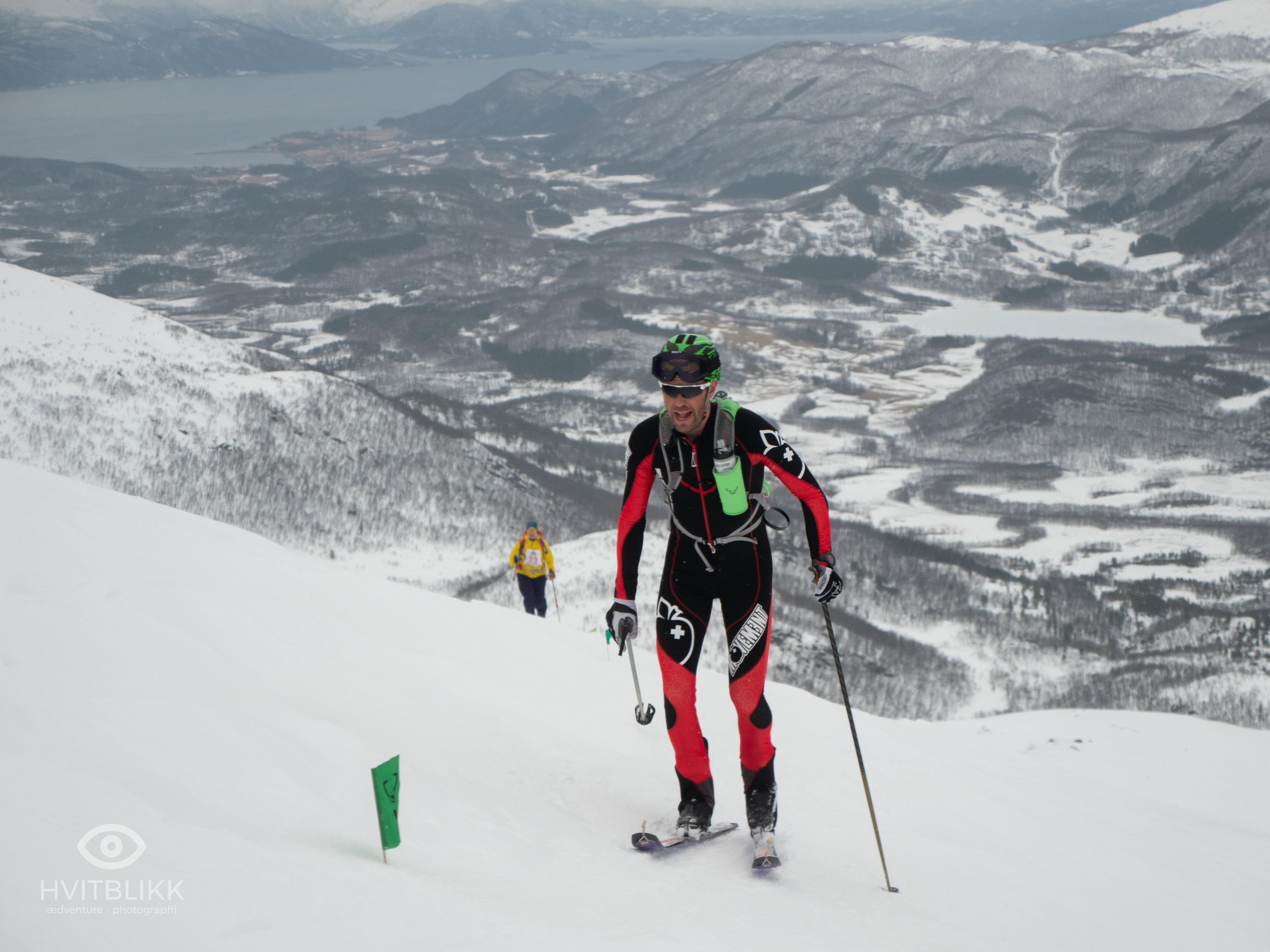 Jan Eirik Holen  - vinner av herreklassen i første utgave av Vargfjordtind OPP/\NED