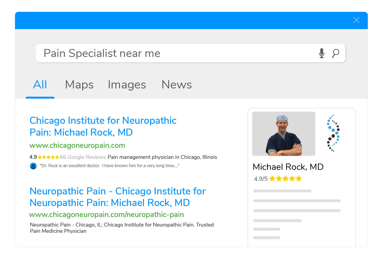 """72% of patients say they view online reviews when searching for a doctor."""" - *"""
