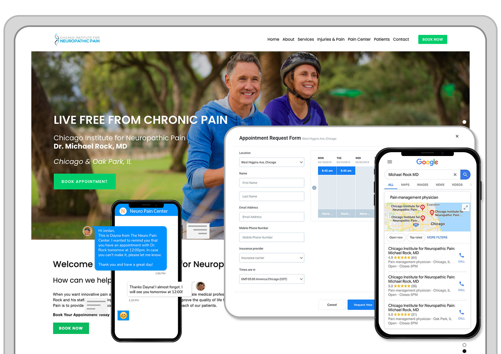 Transform your online presence with a new website. - Get a stunning fast mobile friendly website that showcases your practice and turns visitors into new patients. Contact us to get a free quote.