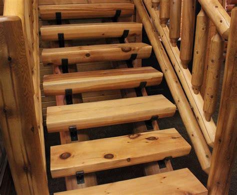 Log stairs & railing