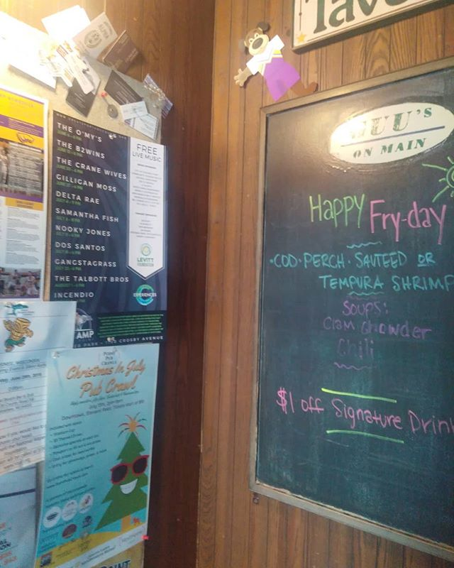 "Another poster, hung up last ""Fry-day"" at Guu's on Main - #Stevenspoint #downtownpoint #715 #centralwisconsin #uwsp"