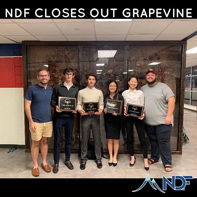 Congratulations to Plano West and Saint Mary's Hall and their coaches for being named co champions at the Grapevine Classic! NDF alumni collected all 9 out of 9 gold bids at the tournament!
