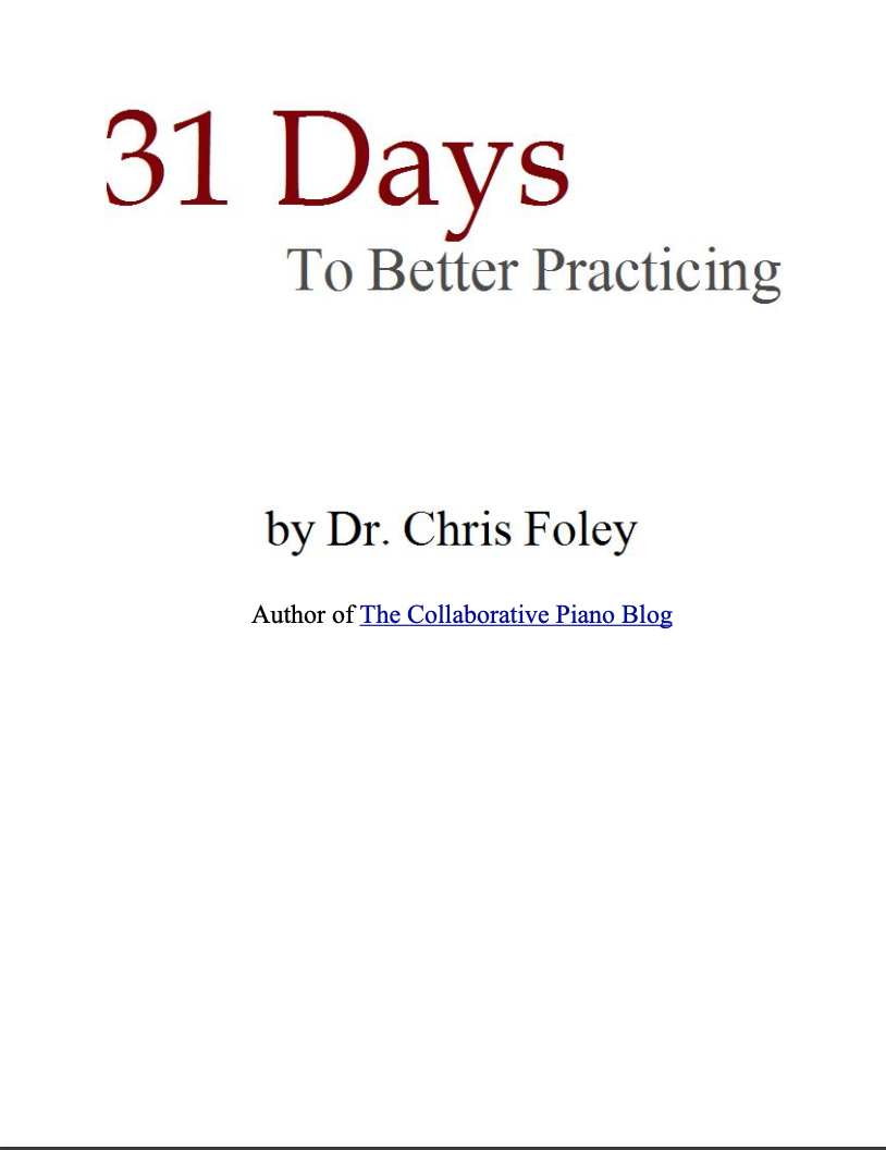 In October of 2007 I wrote a month-long series of articles about practicing. Four years later, I collected and refined these articles into an ebook about how to deepen your practice process.