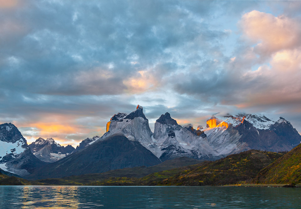 Los Cuernos in Evening Light by  Walter Sawka