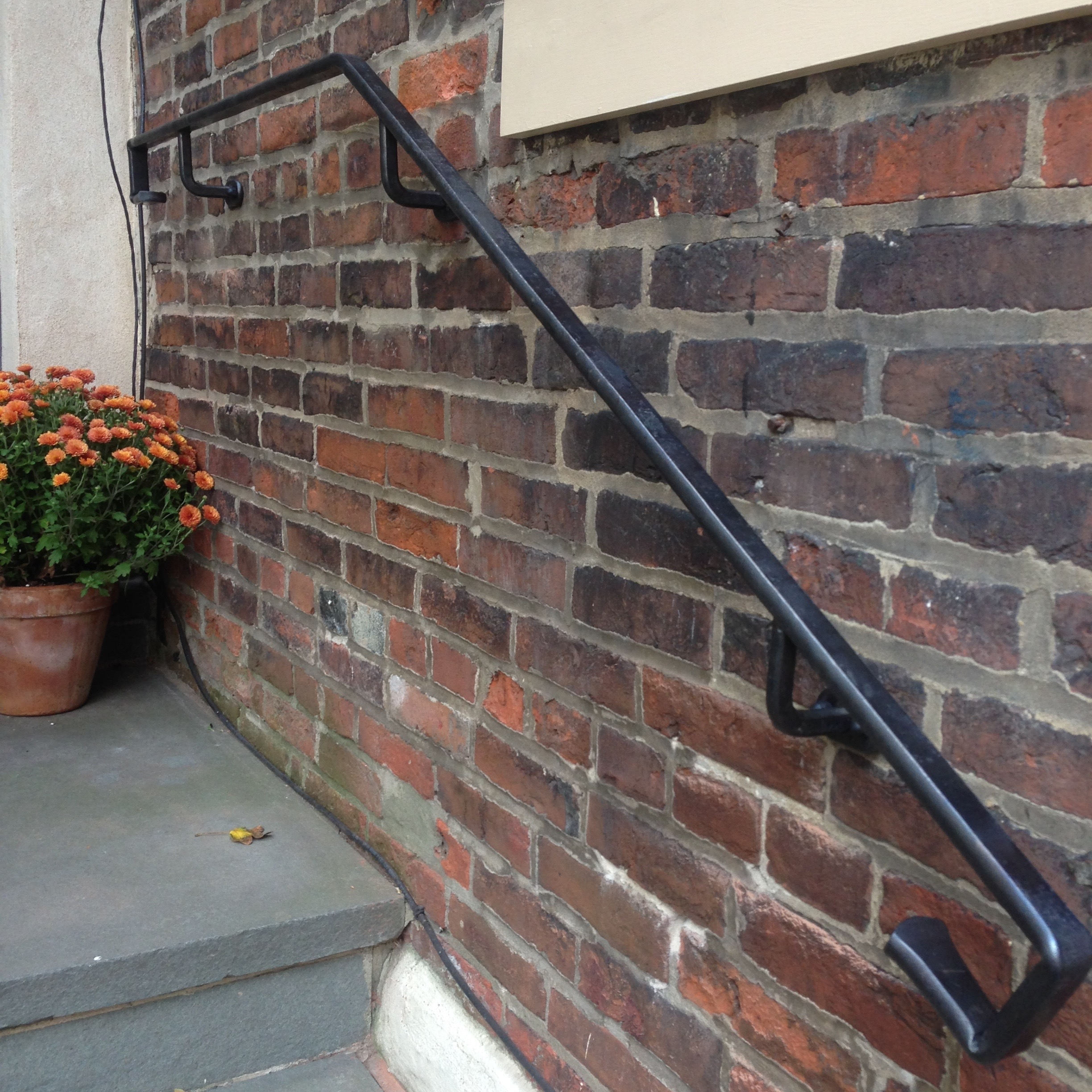 FORGED HANDRAIL - private residence, Cuthbert St. Philadelphia PA