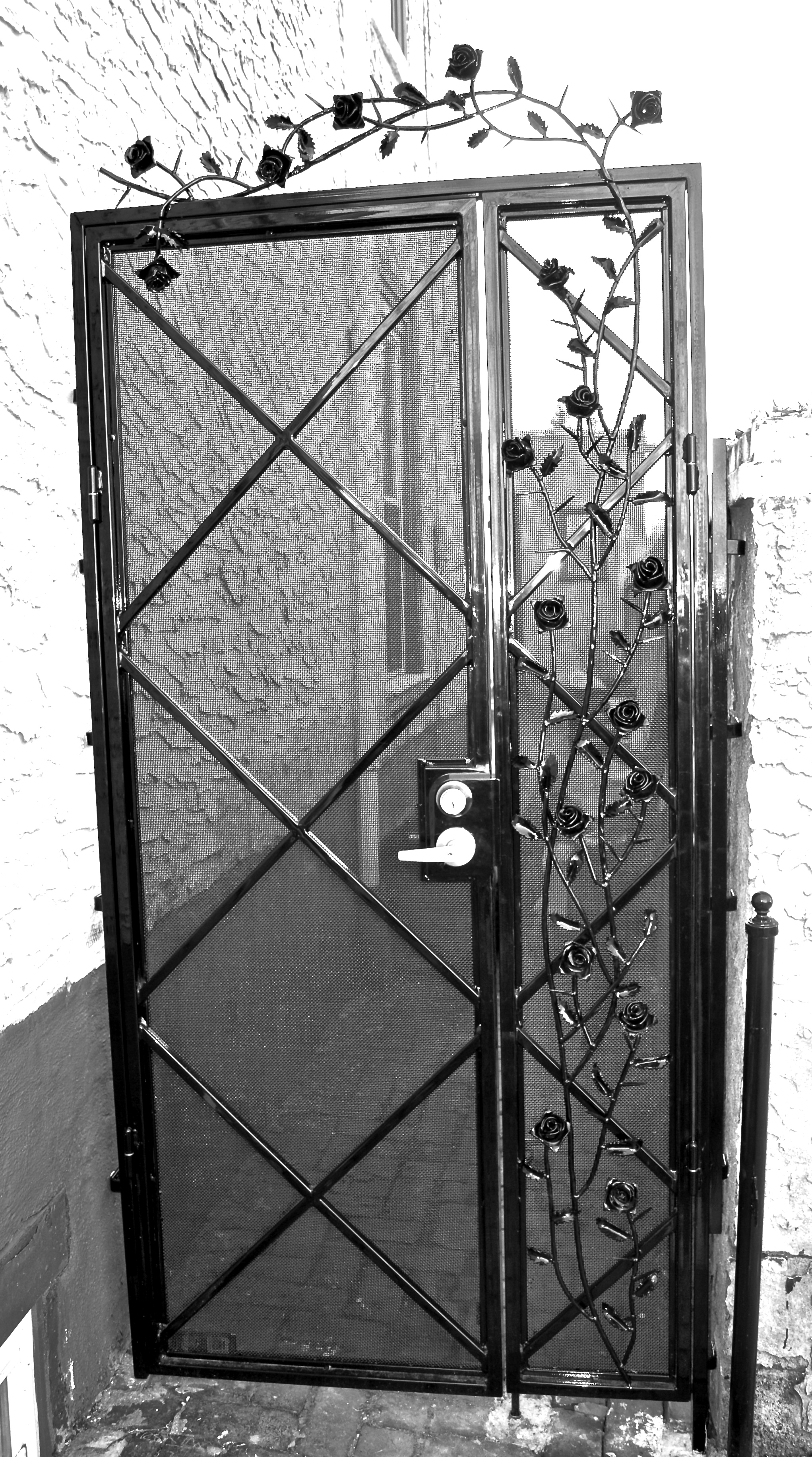 GATE WITH ROSES - private residence, Columbia Ave. Philadelphia, PA